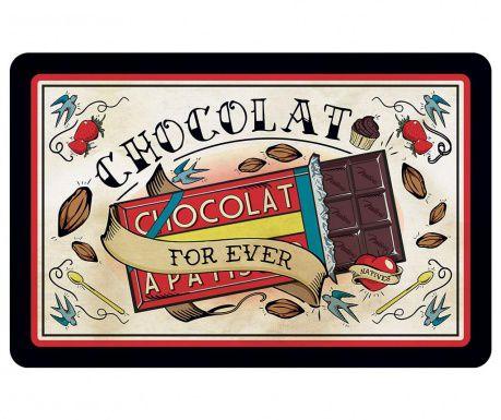 "Подложка за хранене ""In chocolate we trust"""