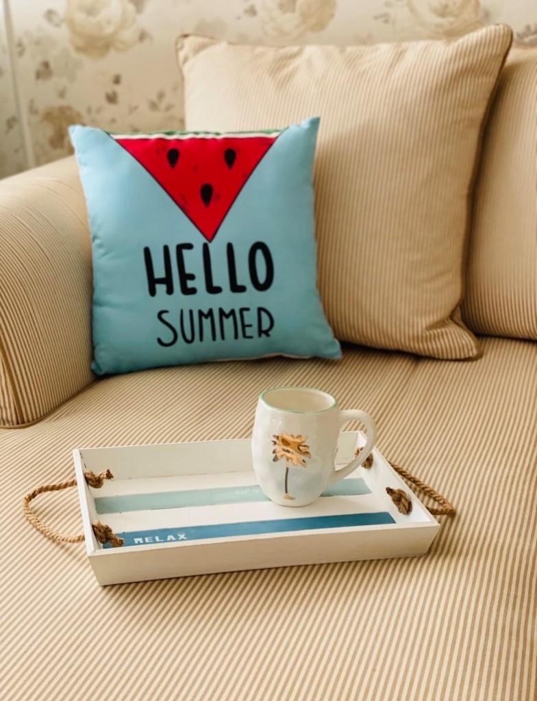"""Табла за сервиране на лимонада """"Relax it`s summer"""""""