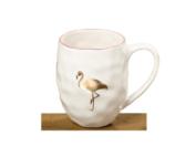 """Луксозна чаша с мотив фламинго """"Let`s flamingo"""""""