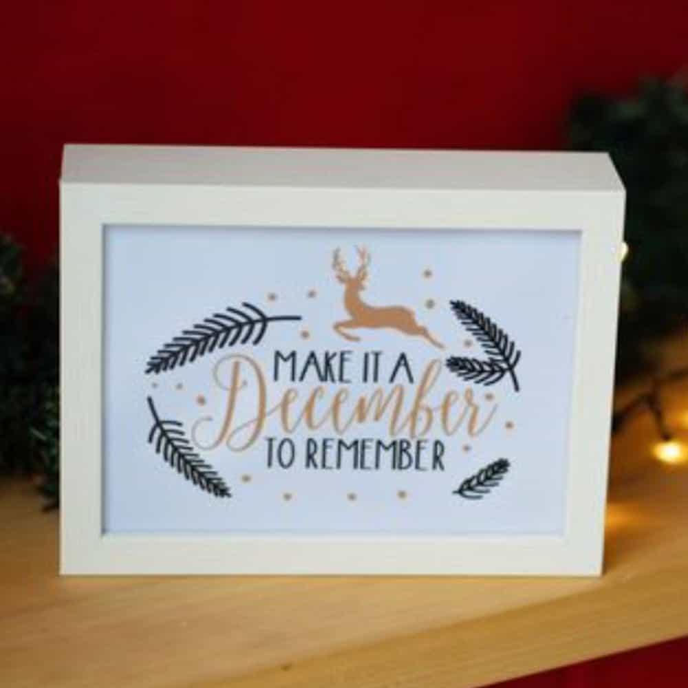 "Светеща декорация за вашата стена ""December to remember"""