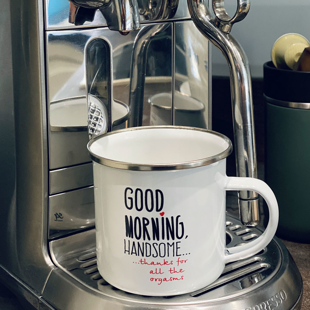 "Метално канче ""The perfect mug for one perfect man"""