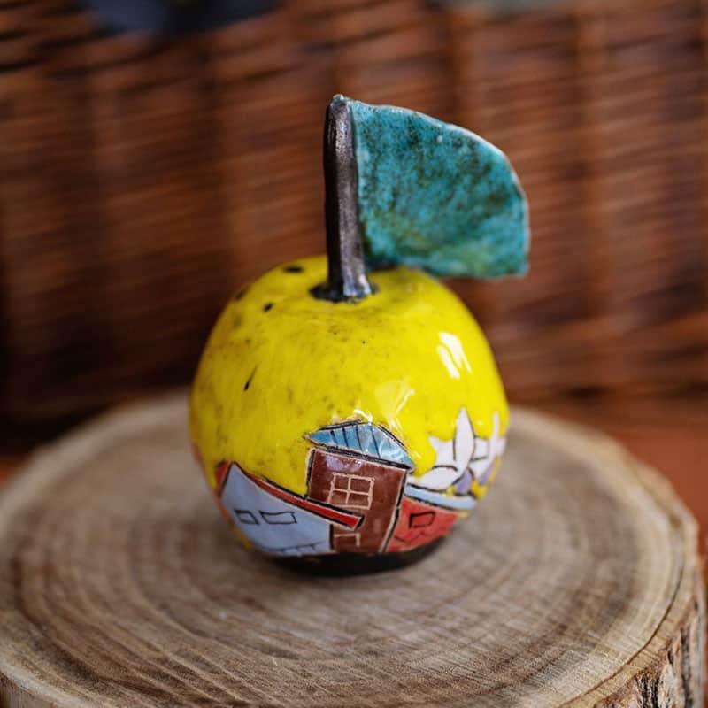 """Керамична ябълка """"The apple and the art"""""""