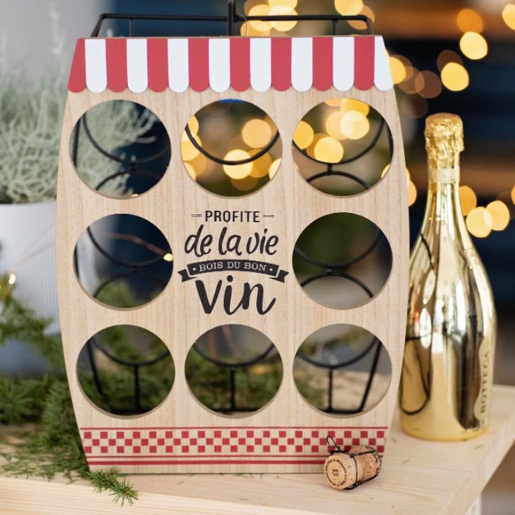 "Празнична поставка за вино ""Christmas and Wine"""