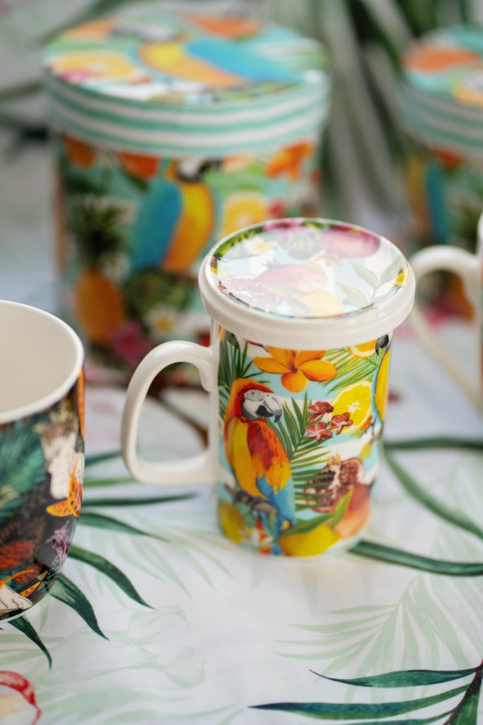 """Бутикова чаша за чай с цедка """"Exotic vibes"""""""