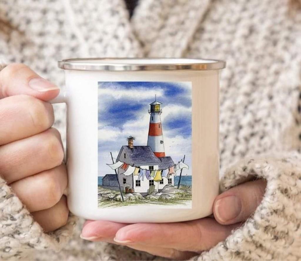 "Емайлирано канче ""Summer lighthouse"""