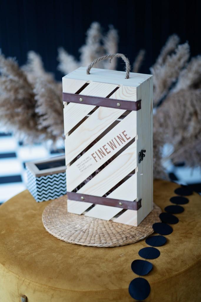 """Дървена кутия за вино """"Tuscany"""""""