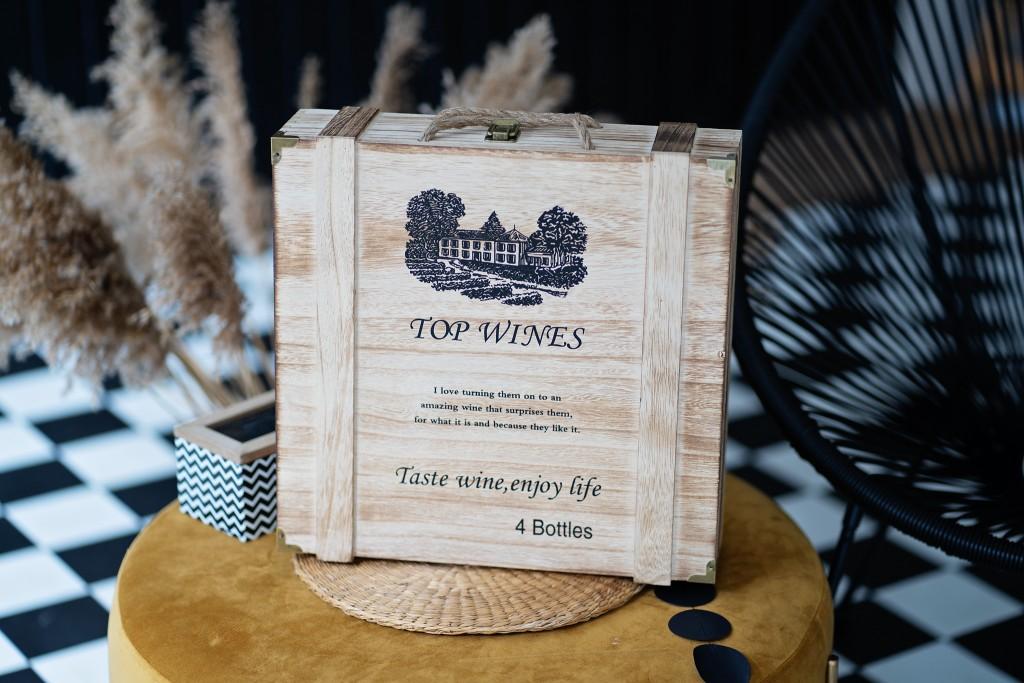 Кутия за 4 бутилки вино